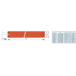 BS30/1000  - Stahl Stevenroht 30 mm / L.1000 mm und Gummilager