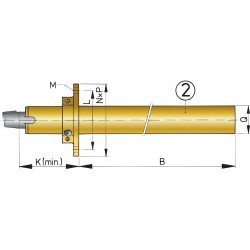 BL25/500 - Bronze Stevenrohr 25 mm / L.500 mm und Gummilager