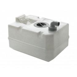 BTANK40C - Schmutzwassertank 40 Liter, inkl. Anschlüsse und Inspektionsdeckel