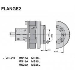 FLANGE2 - Zwischenflansch für VOLVO MS2 UNIFL 1225 + 1230