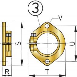 FLKOKER30 - Montageflansch Stevenrohr 30 mm