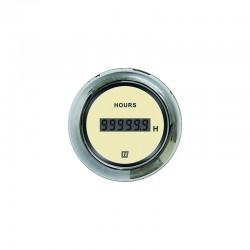 HOURCN - Stundenzähler, Digital, Creme, 12/24 Volt