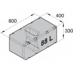 ATANK088 - All-Zweck Tank, 88l, exkl. Anschlussssatz